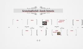 Kronologiforløb: dansk/historie