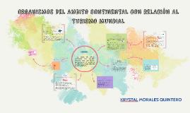 ORGANISMOS DEL AMBITO CONTINENTAL CON RELACION AL TURISMO MU
