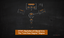 Student Copy UNM's Bachelor of Liberal Arts: