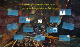 La plongéee sous-marine pour la pêche de langoustes au Nicaragua