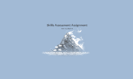 Skills Assessment Assignment