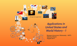 Copy of Applications in United States and World History