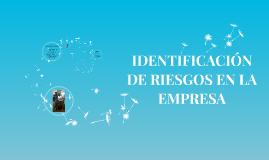 RIESGOS DE LA EMPRESA.