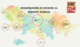 incorporación DE Ecuador AL Mercado Mundial