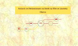 Kultural na manipestasyon ng gamit ng wika sa lipunang Pilip