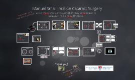 Manual Small Incision Cataract Surgery - 4:3 screen ratio
