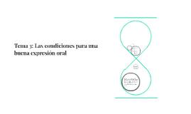 Tema 3: Las condiciones para una buena expresión oral