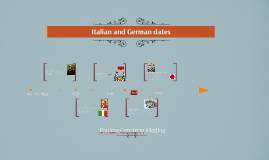 Italian and German dates