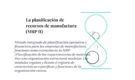 La planificación de recursos de manufactura (MRP II)