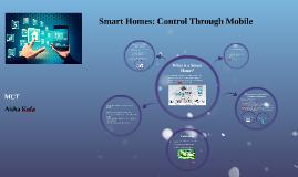 Smart Homes: Control