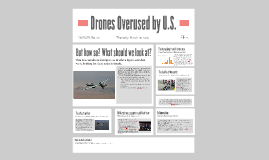Drones Overused by U.S.