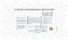Copy of LA ESCUELA QUE SURGE DE LA REVOLUCIÓN