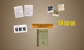 Were the peace treaties of 1919-23 fair?