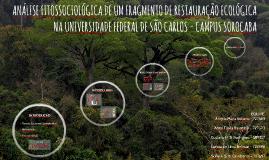 RESTAURAÇÃO FLORESTAL DA CAATINGA