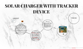 SOLAR CHARGER WITH TRACKER DEVICE
