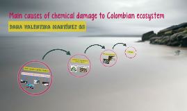Main causes of chemical damage to Colombian ecosystem