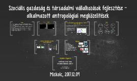 Szociális gazdaság és társadalmi vállalkozások fejlesztése - alkalmazott antropológiai megközelítések