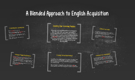 A Blended Approach to English Acquisition