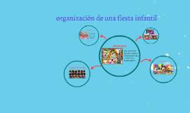 organizacion de una fiesta infantil