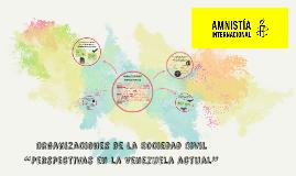"""Organizaciones de la Sociedad Civil """"Perspectivas en la Vene"""