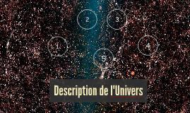 Description de l'Univers