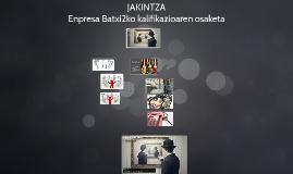JAKINTZA-Enpresa Batxi2ko kalifikazioaren osaketa