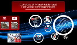 Conduite et Présentation des Activités Professionnelles