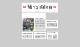 Wild Fires in California