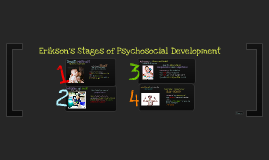 Erikson's 4 stages of Psychosocial Development