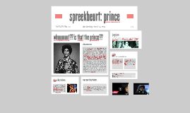 Copy of spreekbeurt: prince