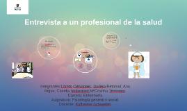 Copy of Entrevista a un profesional de la salud