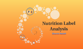 Nutrition Label Analysis