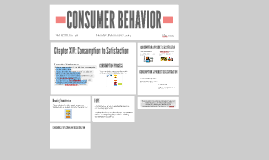 CONSUMER BEHAVIOR XIV