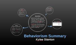 Behaviorism Summary