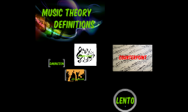 Music Theory Definitions