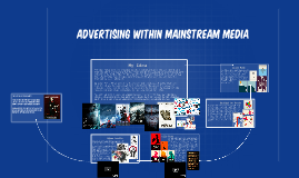 Advertising Within Mainstream media