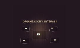 ORGANIZACIÓN Y SISTEMAS II