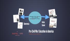 Pre-Civil war education in America