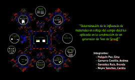 Copy of Generador de Van de Graaff