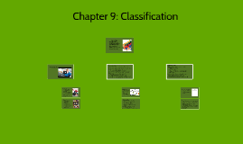 Chapter 9: Classification