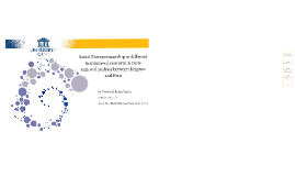 Social Entrepreneurship in different institutional contexts: