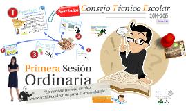 Copy of C.T.E. 14-15: Primera Sesión Ordinaria