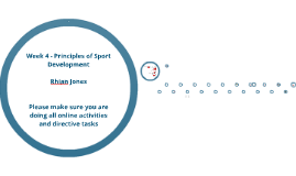 Principles Of Sport Development W4