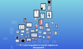 TIC´s para la igualdad: la inclusión digital en la discapaci