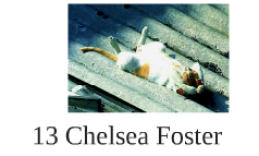 13 Chelsea Foster