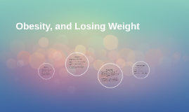 Obesity, and Losing Weight