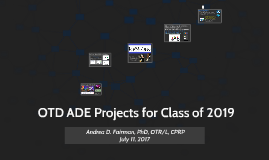 OTD ADE Projects - Class of 2019