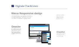 Nieuw responsive design van Digitale Checklisten