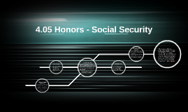 4.05 Honors - Social Security