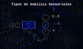 Tipos de Anàlisis Sensoriales